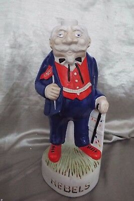 1974 McCORMICK DECANTER OLE MISS REBELS COLONEL MASCOT -MISSING STOPPER/HAT