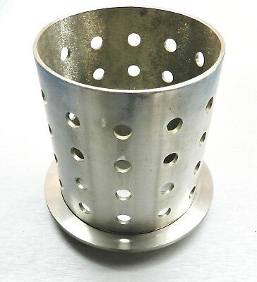 "Perforated Flask 5"" x 6"" Casting Flask Vacuum Casting Stainless 1/8"" Wall"