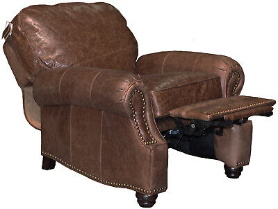 New Barcalounger Premier Ii Manual Wall Hugger Leather Recliner