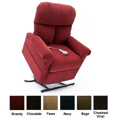 New Brandy Red Fabric Easy Comfort LC-100 Power Lift Chair Mega Motion Recliner