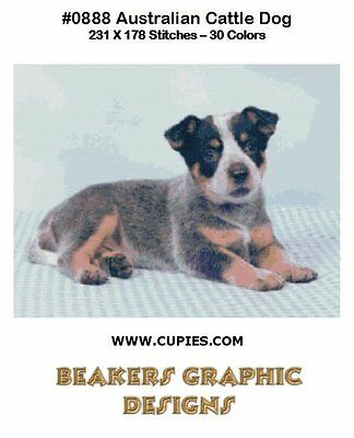 AUSTRALIAN CATTLE DOG PUP Counted Cross Stitch detailed #0888