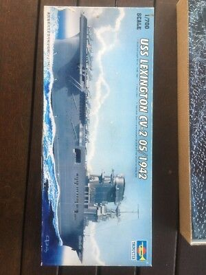 Trumpeter 1/700 Model Kit USS Lexington CV-2 Aircraft Carrier