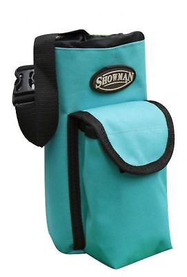 Showman TEAL Insulated Nylon Bottle Carrier W/ Pocket Trail Riding! HORSE TACK!