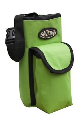 Showman LIME Insulated Nylon Bottle Carrier W/ Pocket Trail Riding! HORSE TACK!