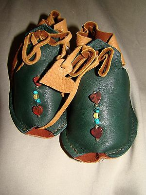 Baby One-Of-A-Kind Suede Beaded Moccasins
