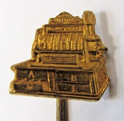circa 1900 CASH REGISTER figural advertising stick pin stickpin +