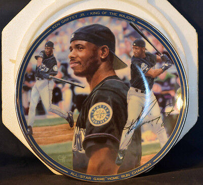 KEN GRIFFEY JR. King of the Majors Bradford Collector's Plate Ltd. Ed. #1484A