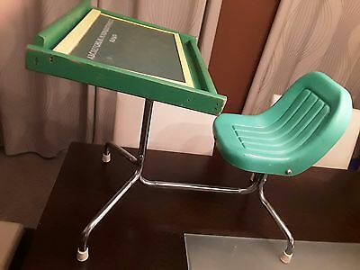 Vintage PLAYSKOOL CHILD'S DESK - With Blackboard and Magnetic Board/ Peg Board