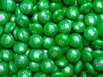 Genuine M&Ms Dark Green 500g Bag