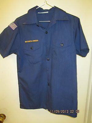 BSA/Boy, Cub Scout Navy Blue Shirt, Short Sleeve Youth/Boys -1