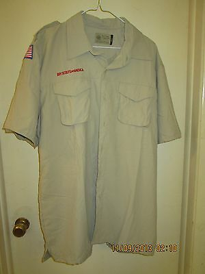 BSA/Cub, Boy & Leader Scout Newest Vented Back Uniform Sht.Slv. Shirt-Adult -1