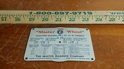 """The Master Wheel"" concrete quantities-vintage"