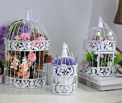 3pcs Bird Cage Home Wedding Decoration Plants Flower Candle Table Decor