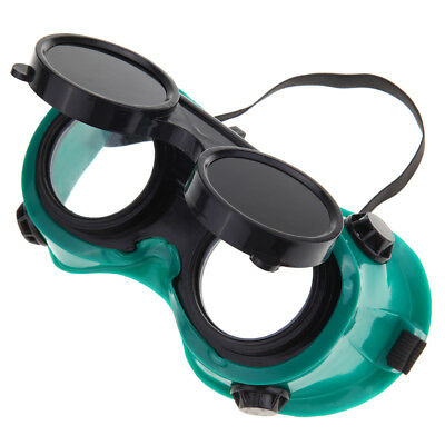 Welding Cutting Welders Safety Goggles Flip Up Glasses Dark Green Lenses New