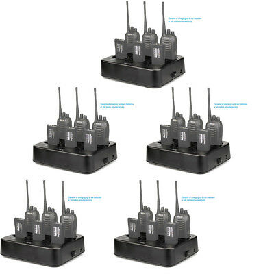 5pcs 6-Way Charger Retevis RTC777 for Retevis H777/Baofeng 888S 2- Way Radios