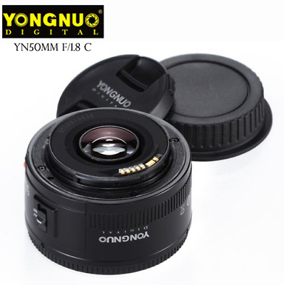 ESK YONGNUO lens YN 50MM F1.8 Large Aperture AF MF Fixed For Canon EF Mount EOS
