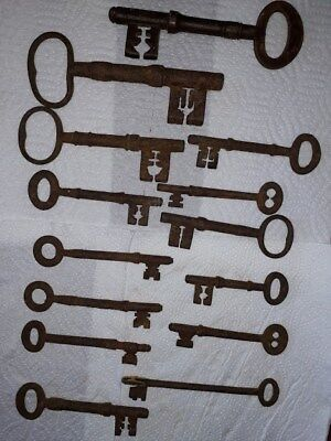 Collection  of Old metal  Door Keys Various sizes Decor