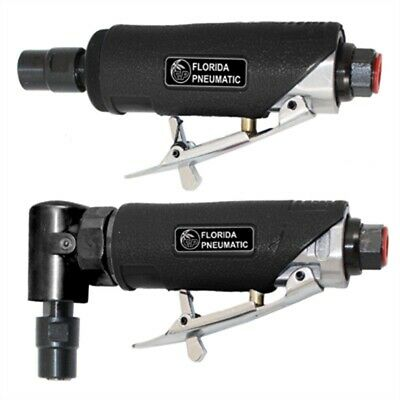 """Air Die Grinder Kit, 1/4"""" Collets, 22,000 RPM, with Mini Angle Grinder, Straigh"""