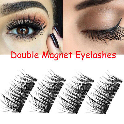 2 Pairs Double Magnetic Eyelashes Handmade Reusable False Eye Lashes Extension