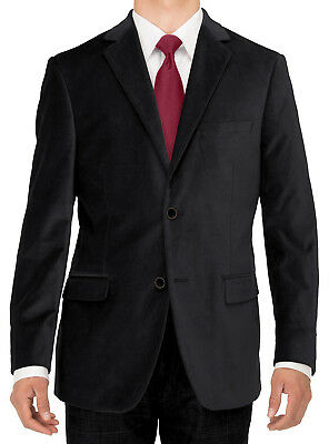 Luciano Natazzi Mens Two Button Velvet Suit Jacket Working Buttonholes Blazer