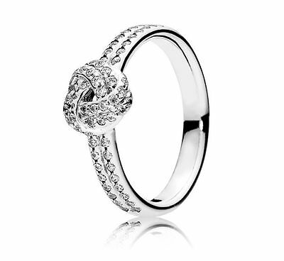 Genuine Authentic Pandora Love Knot Ring 190997Cz Size 56