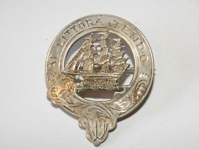 Scottish HM  Silver Clan Badge Ad littora tendo Watson HM1950 Edin M&C Inverness