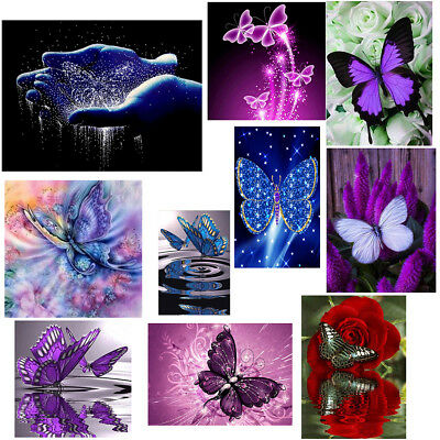 5D Schmetterling Malerei Diamond Diamant Painting Stickerei Kreuzstich Zuhau DIY