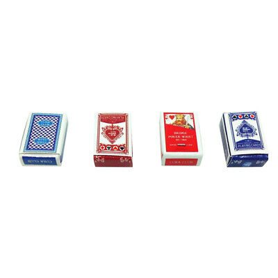4Sets of Poker Game Playing Card Dolls House Miniature Decoration 1:12 Scale