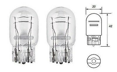 2 x T20 W21/5W 7443 580 Clear Bulbs DRL/Indicator/Stop Brake/Tail Lights PAIR