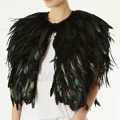 Womens Peacock Feather Jackets Ladies Sexy Clubwear Coat Performance Capes