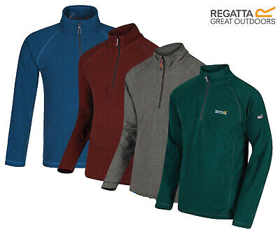 Regatta Montes Mens Fleece Half Zip Lightweight Microfleece