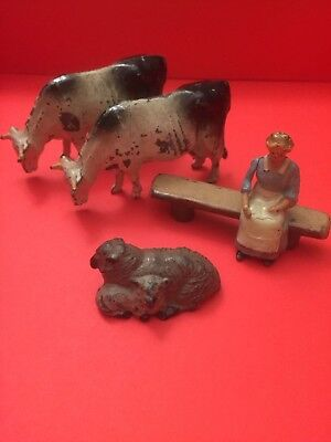Britains & Johilco 1950s Lead Farm LOT Antique Vintage Toy 60s Miniature