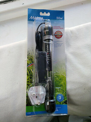 Marina submersible aquarium heater 50w suitable for up to 50 litres 50l