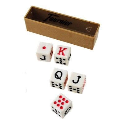 Set of 5 Fournier Poker Spanish Dice in Box