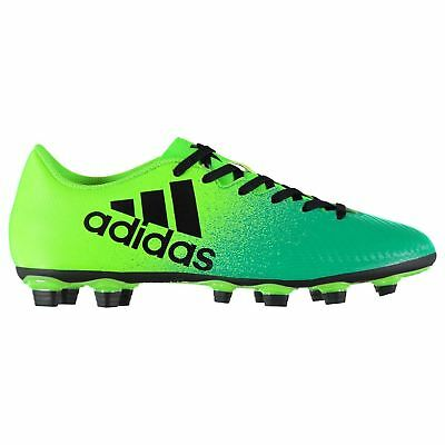 adidas X 16.4 FG Firm Ground Football Boots Mens Green/Black Soccer Cleats Shoes