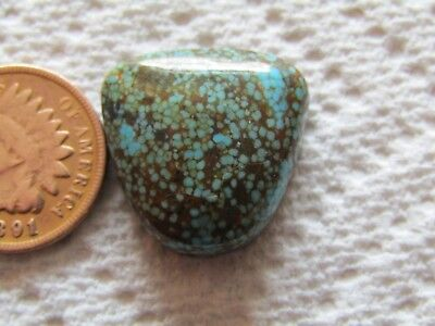 Number Eight Turquoise Cab 22 carat Cabochon #8 High Grade Web