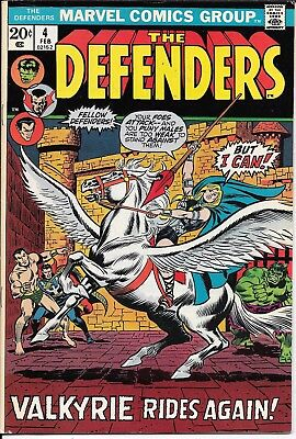 Bronze, The Defenders #4 Feb 1973 Valkyrie joins, Barbara Norris cover