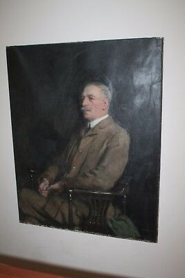 Large 19th Century Portrait Antique Oil Painting Signed by Richard Jack