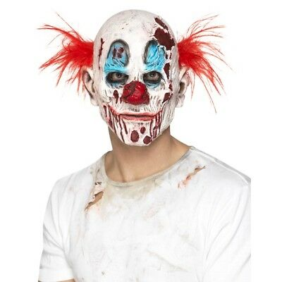 Men's Women's Unisex Evil Zombie Clown Mask Halloween Fancy Dress IT Stag Hen