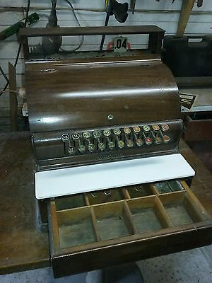 Antique National Cash Register, Works, 724