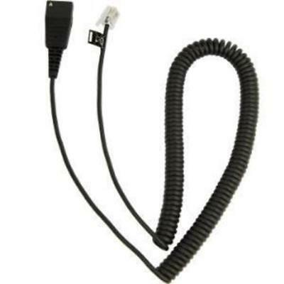 JABRA QD to RJ10 coiled 0 5 - 2 meters for Lucent Callmaster V VI Cisco 79xx and