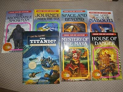 **you Choose** Choose Your Own Adventure Books - 8 Books.