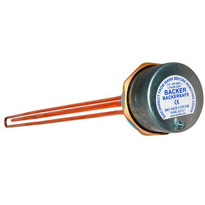 """Backer Backersafe 27"""" Immersion Heater Element & Thermostat 09182Vc"""