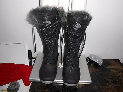 Womens The North Face Mid Winter Snow Grip Black Us 7.5 Boots