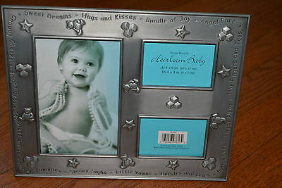HomeTrends HEIRLOOM BABY pewter collage standing picture frame