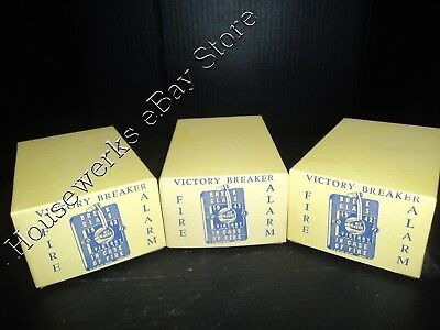 1942 VINTAGE  (LOT of 3 Boxes) * VICTORY BREAKER FIRE ALARM * BALTIMORE MD