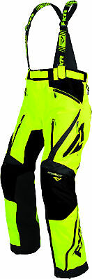 FXR Mens Lime Green/Black Mission X Insulated Snowmobile Pants Snow Snocross