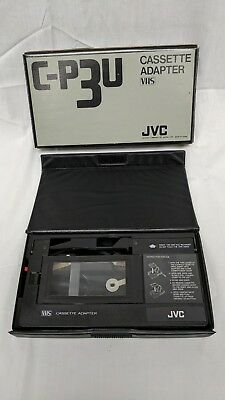 JVC C-P3U Cassette Adapter.PLAY YOUR VHS-C CAMCORDER TAPES IN YOUR VIDEO
