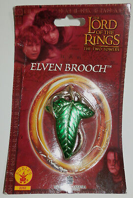 "The Lord of the Rings Elven Brooch Official ""The Two Towers"" Costume Pin - NEW"