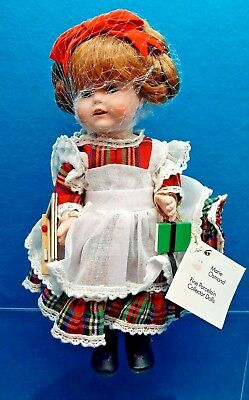 """MARIE OSMOND """"STEPHANIE"""" MIRACLE CHILDREN"""" PORCELAIN  DOLL-NIB-Stand-All Papers"""